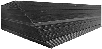 Heavy Weight Pack of 10 Lamitech Solid Black Chipboard 18x24 inches