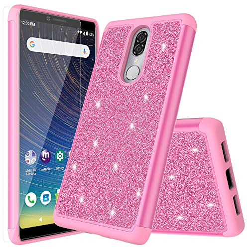 - for Coolpad Legacy Case (Not Go Version) Quicksand Glitter Cute Bling Stand Girls Women Phone Cases for Coolpad Legacy 6.4inch (Pink)