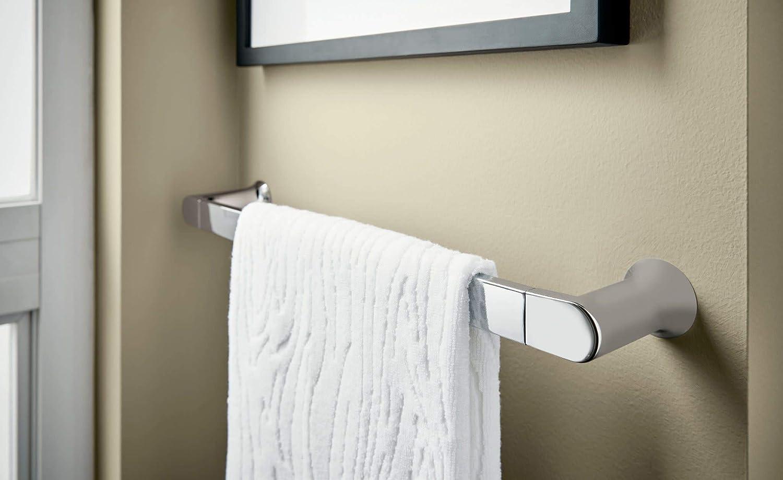 Moen BH3824BL Genta Modern 24-Inch Towel Bar Matte Black