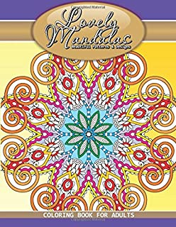 Lovely Mandalas Beautiful Patterns Designs Coloring Book For Adults Volume 50
