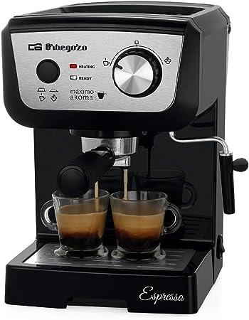 Orbegozo EX 5000 - Cafetera para espresso y cappucino, depósito 1,25 L, café molido o monodosis, vaporizador, bandeja de goteo extraíble, 1140 W: Amazon.es: Hogar