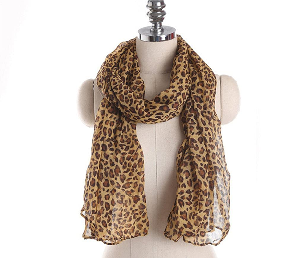 Veenajo Fahionable Women's Leopard Animal Print Scarf wrap Pashmina Soft Shawl Veenajo-wj20161020004-01