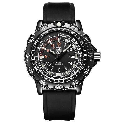 Nalkusxi Reloj Deportivo Deportivo Impermeable para Hombres, Que Brilla en la Oscuridad. (Color