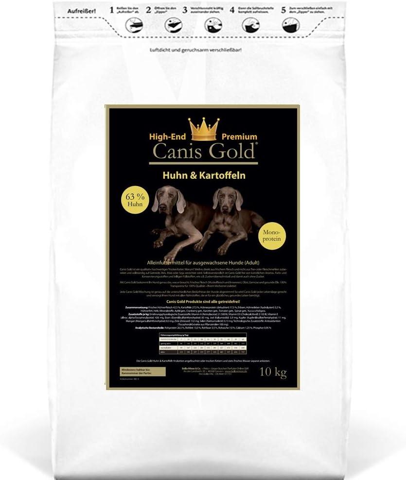 Canis Gold Adult 66% Gallina & patatas (monopro calcárea) getreidefreies Super Premium trockenfutter | Saco de 10 kg