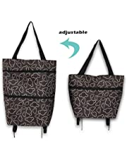 Chariot pliable, sac de courses pliable, panier de courses pliable avec roues, sac de courses réutilisable, sac de courses à provisions
