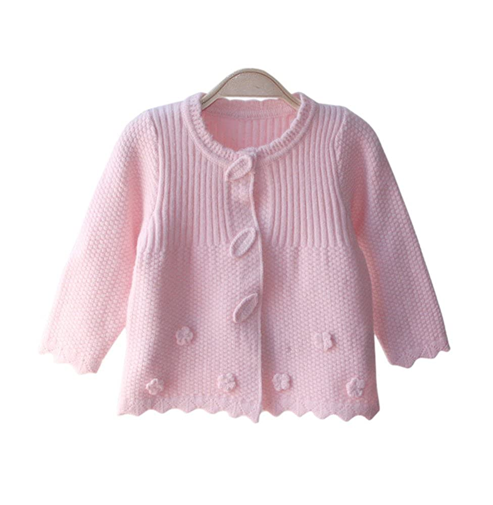 Drasawee Baby Girls Cable Knitted Sweater Coat Cardigan Tops Jackets