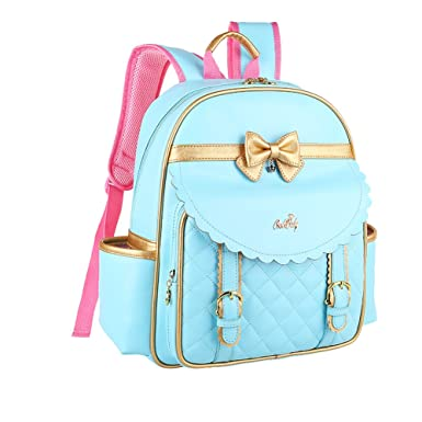 fff9a6c39e Amazon.com  Tusong Waterproof Backpack Princess Children School Bags Handbag  for Girls Students  AM March