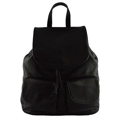 d1b0977d520c6 Lederrucksack Für Damen Farbe Schwarz - Italienische Lederwaren - Rucksack