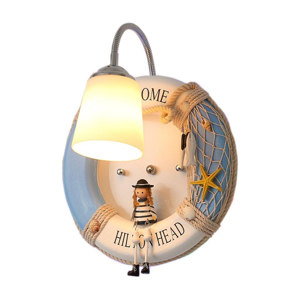 Unbekannt HUYP Prinzessin Kinderzimmer Wandleuchte Cute Cartoon Kreative Schlafzimmer Dekoration Lampe (Farbe : A)