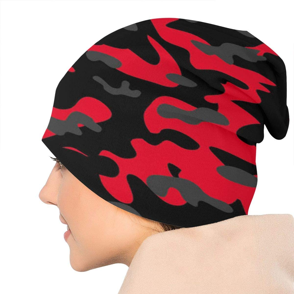 Tiger Red Camo Unisex Warm Hat Knit Hat Skull Cap Beanies Cap