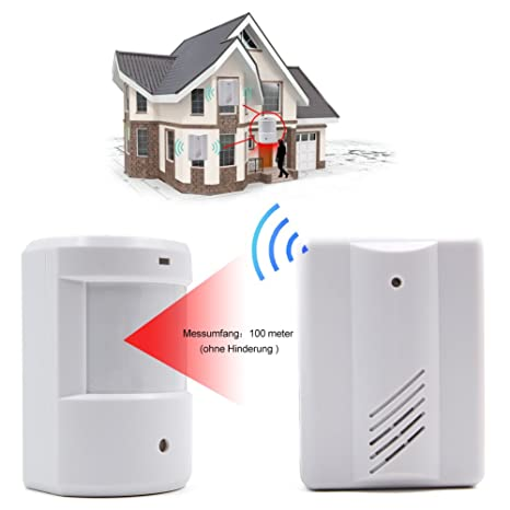 Surwin Alarma de seguridad Detector de presencia Timbre Inalámbrico Portátil impermeable Avisador de Puerta: Amazon.es: Industria, empresas y ciencia