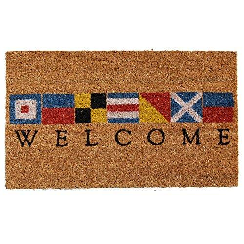 """Calloway Mills 121601729 Nautical Welcome Doormat, 17"""" x 29"""", Multicolor"""