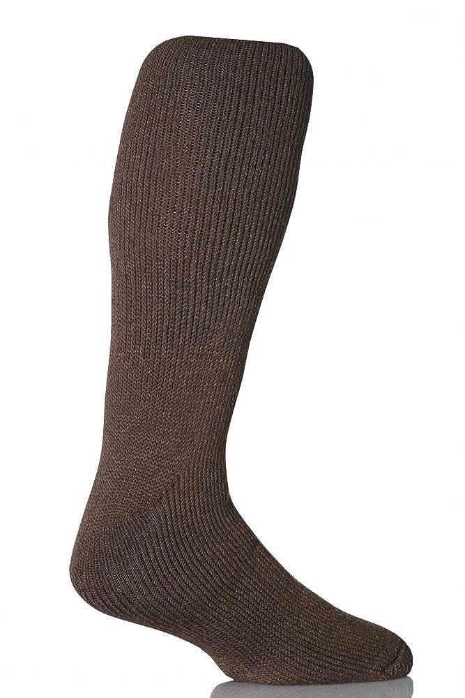 1 Pair Mens GENUINE Original Long Thermal Winter Warm Heat Holders Socks size 6-11 uk 39-45 Eur Earth Brown