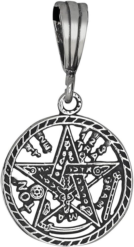 Pentagram Tetragram Pendant Charm Solid 925 Sterling Silver Choose Color