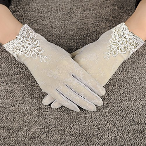 Women Sunscreen Gloves Sun Gloves Fishing Golf Driving Sunscreen Gloves Stretch Anti-slip Touch Screen Sun UV Protection Lace Gloves Tea Party Gloves Wedding Gloves Summer Lady Screentouch Gloves - Party Womens Glove