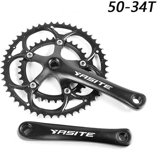 Ligera Bicicletas Crank Crank 50-34T Bicicletas Fixed Gear Set ...