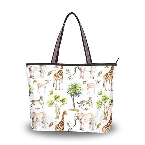 Antelope Palma Ghepardo Spalla Giraffa Borsa Elefante Borsa ALAZA 7WXTYUnU
