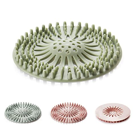 Shower Drain Cover Hair.Shower Drain Covers Hair Catcher Hair Stopper For Bathroom And Kitchen Rubber Sink Strainer Silicone Filter Home Drain Cover 3pack