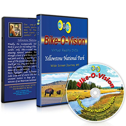 Bike O Vision   Virtual Cycling Adventure   Yellowstone National Park   Perfect For Indoor Cycling And Treadmill Workouts   Cardio Fitness Scenery Video  Widescreen Dvd  9
