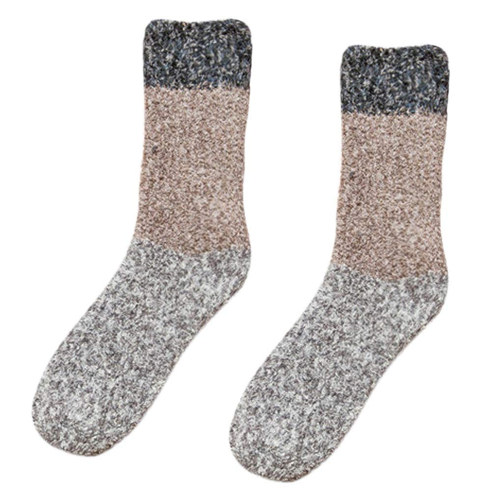 ⁑⁑Cute Fuzzy Floor Socks, Women Thicker Anti-slip Coral fleece Soft Fluffy Winter Warm Sleep Floor residentD (F)