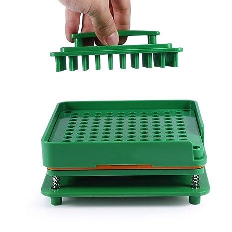 Encapsuladoras Manual Maquina 100 Cápsula llenadora Café Polvo Cosméticos Con Orientador Acrílico Sostenedor de placas