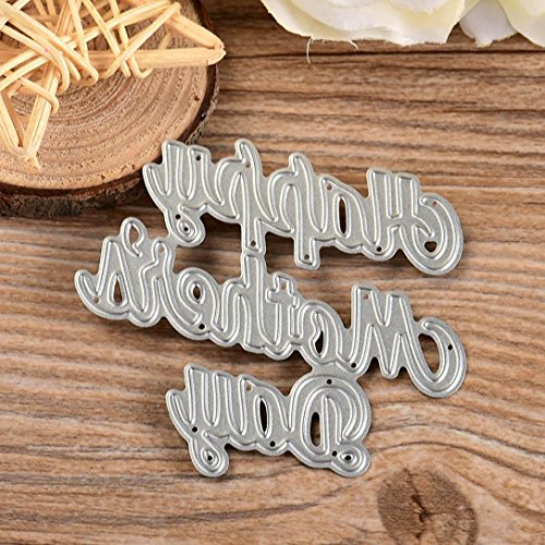 Anboo Blessings Series Cutting Dies Metal Stencils Embossing for DIY Scrapbooking Album Paper Card Art Craft Gift (Happy Mother's Day)