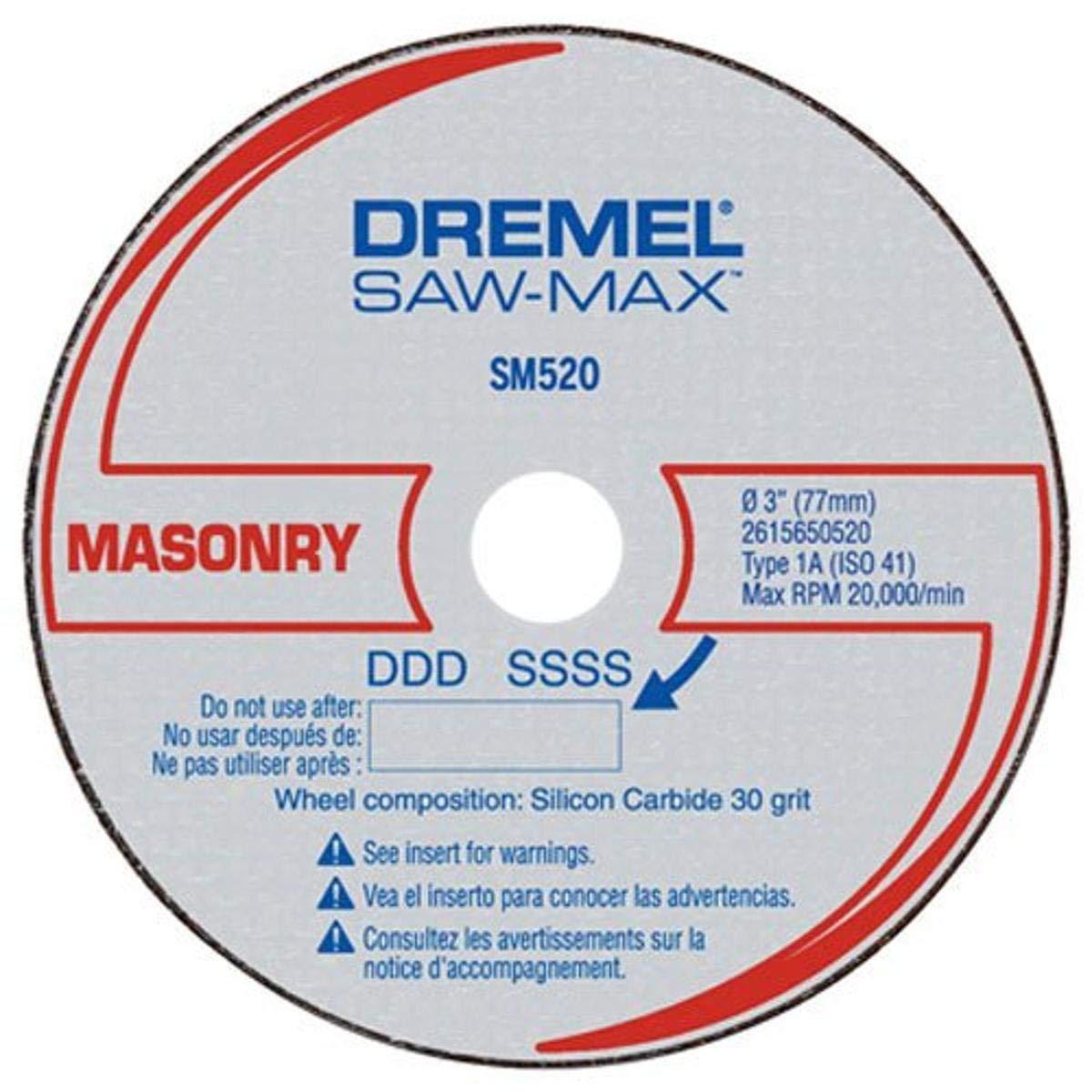 Dremel SM520c 3-Inch Masonry Cut-Off Wheel, 3-Pack