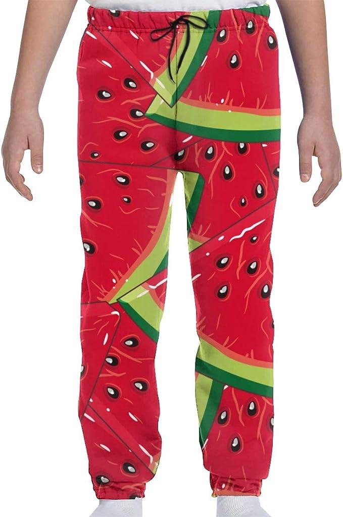 Boys Girls I Watermelon Summer Teen Youth Fleece Gray