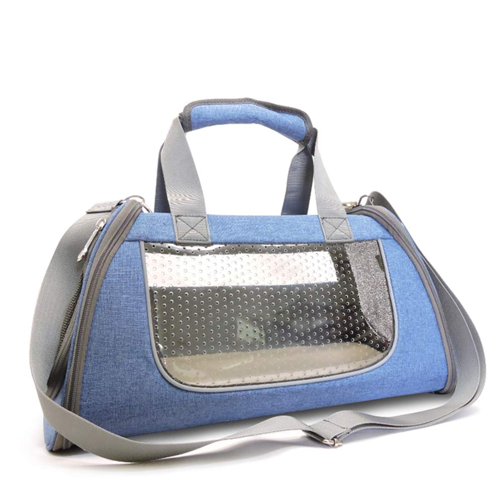 bluee Large bluee Large L&XY Pet Backpack Airline Approved Pet Carriers Single Shoulder Hand-Held Breathable Portable Foldable Dog Bag Cat Cage