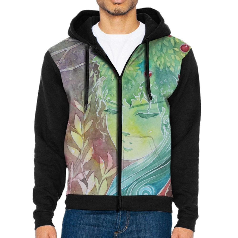 PanDe Forest Spirit Girl Portrait Sweatshirt Hoodies For Men