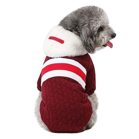Mascotas Ropa, bluel ucon Perros Gatos Hoodie Mode Sudadera Camiseta de Chaqueta con Capucha Invierno
