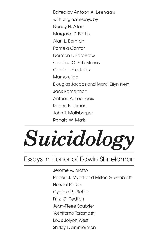 Suicidology