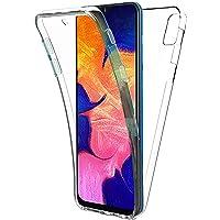 New&Teck Coque 360 Degré Samsung Galaxy A10 - Protection intégrale Transparent Avant + Arrière en Rigide, Housse Etui Tactile - Antichoc, Samsung Galaxy A10