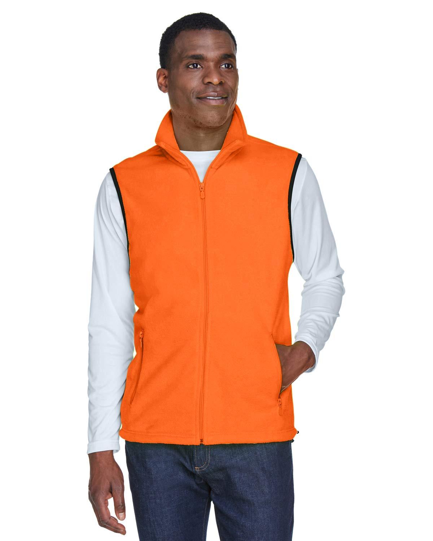 Harriton M985 Adult 8 Oz. Fleece Vest Safety Orange 2Xl by Harriton