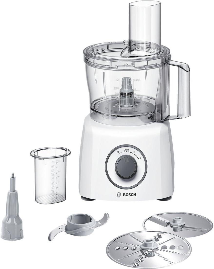 Bosch MCM3110W - Robot de cocina (2,3 L, Blanco, Giratorio, De plástico, Acero inoxidable, 800 W): Amazon.es: Hogar
