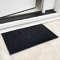 Ottomanson RDM9603-18X30 Rubber Doormat, 18X30, Black Elanji Doormat