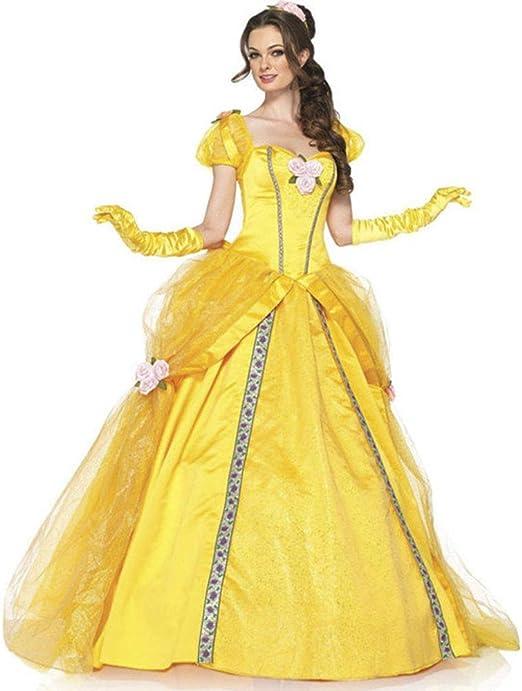 WSNGD La Bella y la Bestia Disfraces de Bell Blancanieves Vestido ...