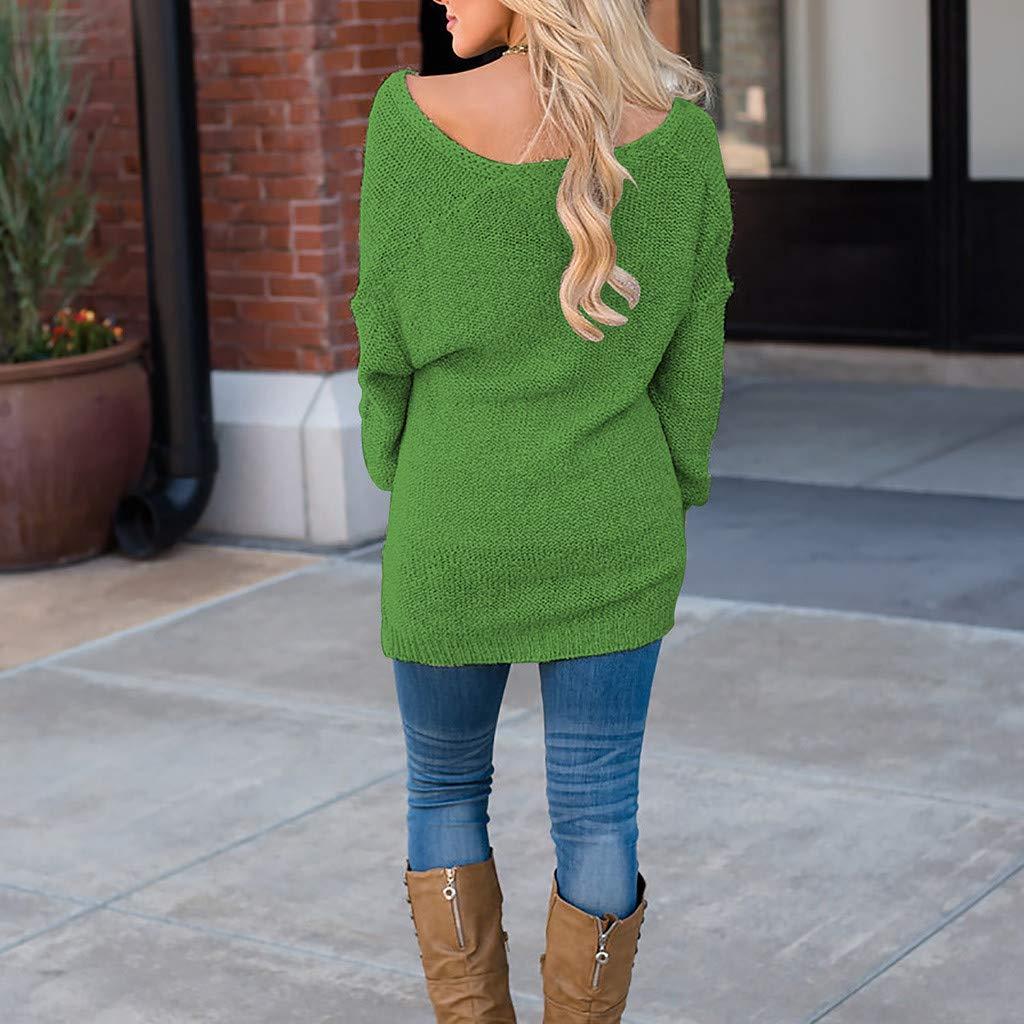 Amazon.com: AOJIAN Blouse Women Long Sleeve T Shirt Knitted Deep V Neck Sweatshirt Tees Sweater Shirts Tops: Clothing
