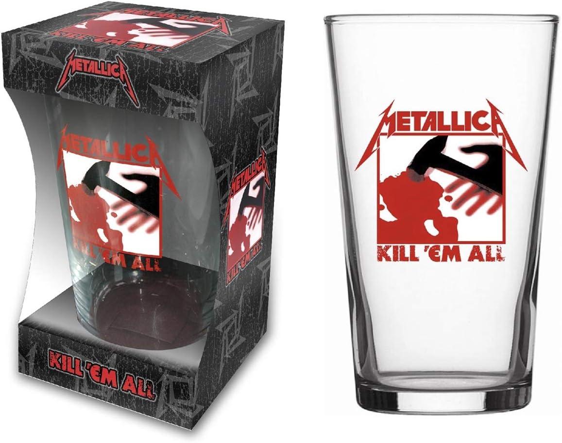 Unbekannt Metallica Cerveza Cristal/Beer Glass # 2Kill 'Em All–Pinta 570ML