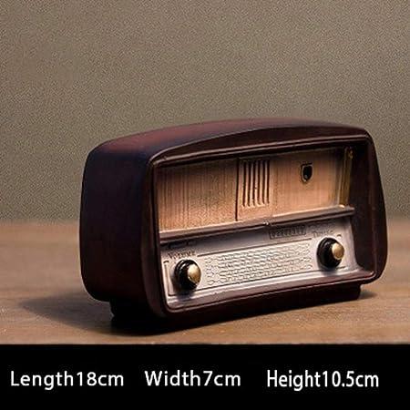THREE Resina Radio Modelo de TV Retro Adornos nostálgicos Estatuilla Vintage Radio Craft Bar Decoración para el hogar Antiguo Accesorios para Amigos Regalo, Radio A: Amazon.es: Hogar