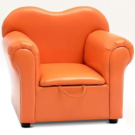 Amazon.com: Sillón para niños, color naranja, multifuncional ...