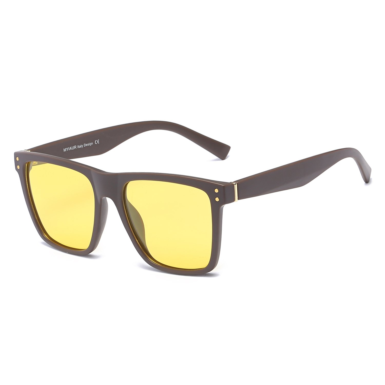 b821ae5f2b 60% de descuento Grandes Gafas de HD Visión para Conduccion Nocturna Hombre  Polarizadas Lente Amarilla