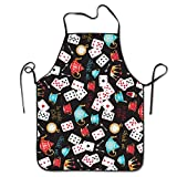 Novelty Funny Poker Unisex Kitchen Chef Apron - Chef Apron For Cooking,Baking,Crafting,Gardening And BBQ