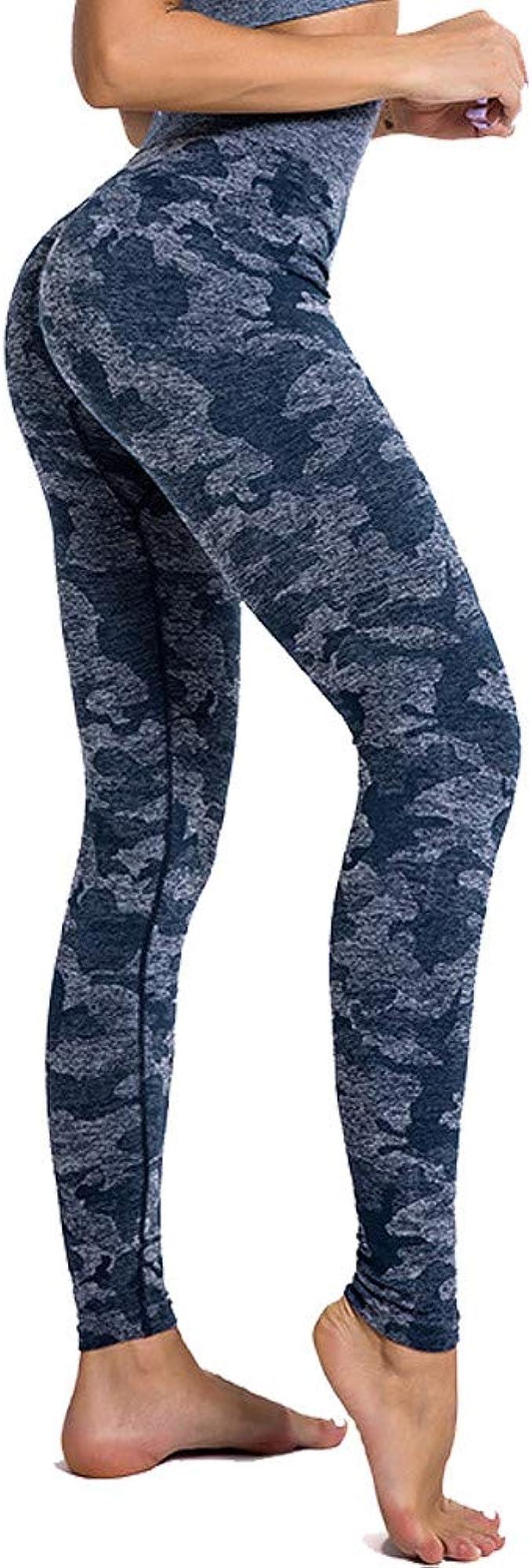 SotRong Pantalones de Yoga de Camuflaje para Mujer Legging de ...
