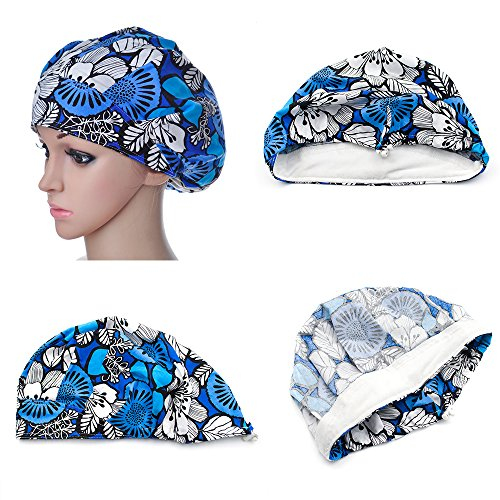 Opromo Cotton Bleach Friendly Banded Adjustable Scrub Cap Sweatband Bouffant Hat-Assorted 7 by Opromo (Image #2)