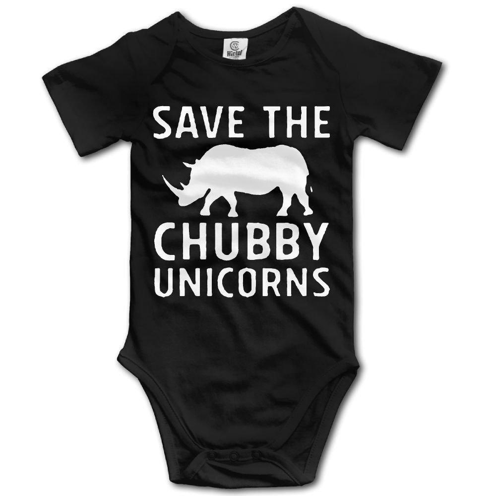 Save The Chubby Unicorns Baby Newborn Crawling Suit Short Sleeves Romper Bodysuit Onesies Jumpsuit