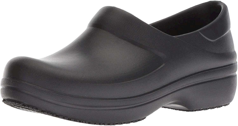 Crocs Women's Neria Pro II Embellished Clog | Slip Resistant Work Shoes