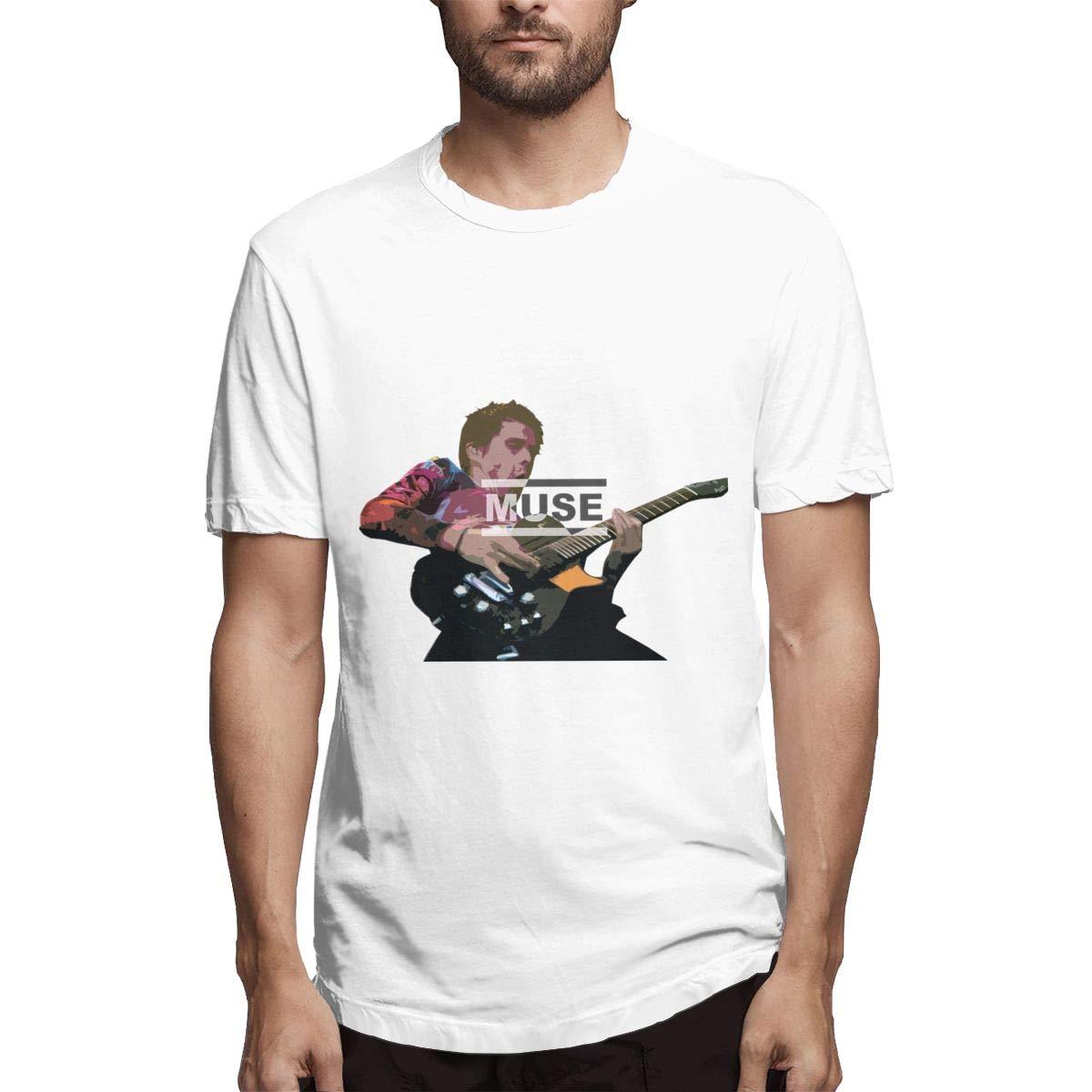 Lihehen Muse Retro Printing Round Neck T Shirt