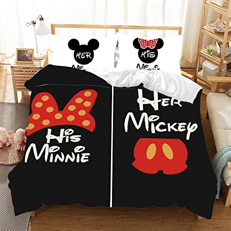 Amazon Com Mickey Minnie Mouse Kids Duvet Cover Bedding Sets For Boys Girls Teens 3pieces Bed Set Bedding Including 1duvet Cover 2pillowcases Dis Mickey 3 Queen Home Kitchen