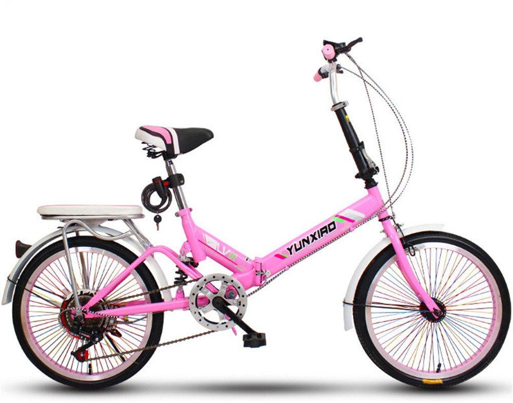 折りたたみ自転車 折り畳み 16インチ 20インチ 変速自転車 単速  変速 通勤 通学 小型 小径 簡単収納 B07BTW2TQW 20インチ変速&バージョンアップ|Q Q 20インチ変速&バージョンアップ